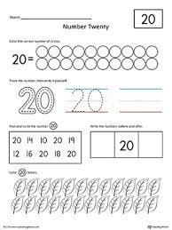 number 20 practice worksheet writing numbers printable