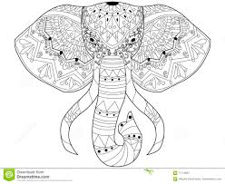 elephant coloring vector adults stock vector image 71110001