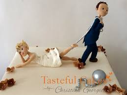 funny wedding cake toppers ball and chain idea in 2017 bella