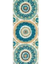 Aqua Runner Rug Shopping Sales On Home Hooked Retro Teal