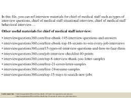 Chief Of Staff Resume Sample by Top 10 Chief Of Medical Staff Interview Questions And Answers