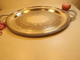 wedding serving trays delightful 24 silver plated style large serving tray
