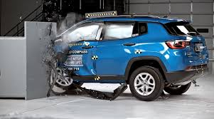 crashed jeep wrangler iihs crash test 2017 jeep compass fails to earn top safety pick
