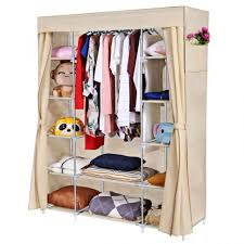 wardrobe ikayaa diy portable closet storage organizer wardrobe