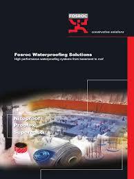 fosroc waterproofing brochure concrete building