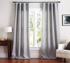 Linen Curtain Panels 108 Belgian Flax Linen Drape Pottery Barn