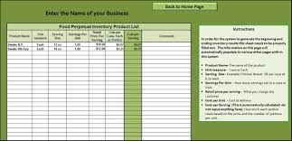 Kitchen Inventory Spreadsheet Inventory Sheet For Restaurant