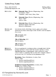 6 an example and format of a good curriculum vitae budget