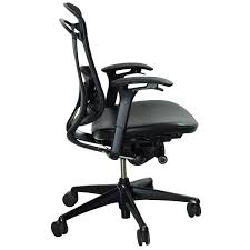black leather desk chair teknion contessa used mesh and leather task chair black