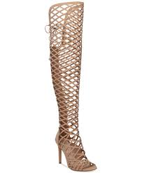 vince camuto vince camuto keliana the knee caged sandals boots shoes