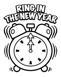 happy new year preschool coloring pages ring in the new year eve coloring page new year coloring page