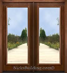 Insulated Patio Doors 1 Lite Beveled Glass Patio Doors