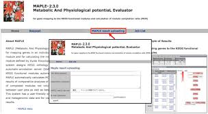 maple 2 3 0 metabolic and physiological potential evaluator