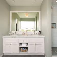 white double vanity with white marble countertop contemporary