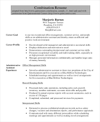 exles of combination resumes environmental administration sle resume 11 1