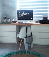 Desk Dresser Combination This Beautiful Desk Is Made By Putting An Ikea Malm 6 Drawer