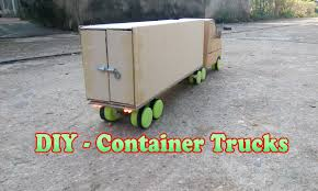 How To Build A Wooden Toy Chest by How To Make Container Trucks Rc Youtube