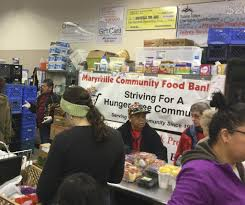marysville food bank out hundreds of turkeys for