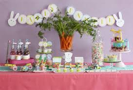 Easter Decorations For Tables by Easter Ideas Funny Table Decorations For Kids With Many Cupcakes