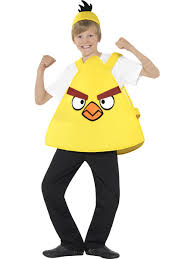 yellow angry birds tabard hat kids fancy dress animals childs