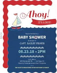 nautical design baby cheap boy baby shower invitations invite shop