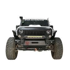 jeep wrangler light grey opar pathfinder front bumper w 54w led light bar for 2007 2017