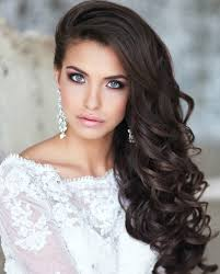 women hairstyles long curly wedding hairstyles with bangs curly