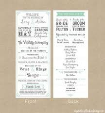 how to make your own wedding programs wedding invitation programs vertabox