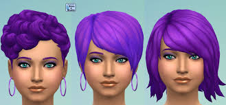 deep purple color mod the sims recoloured female hair set in deep purple get to