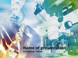 microscope in dna research presentation template for powerpoint