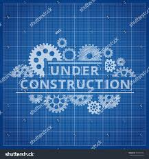 blueprint website backdrop under construction blue stock vector