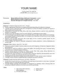 billing resume exles amazing collector resume exles in billing resume