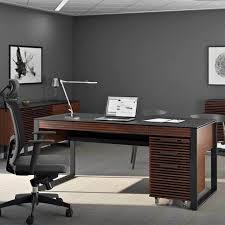 Office Desk Walnut Corridor Desk 6521 Bdi