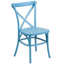 X Back Bistro Chair Flash Furniture Hercules Series Blue Resin Indoor