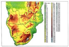 africa map elevation the global intelligence files africa angola maps update