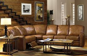 Luxury Leather Sofa Sets Light Brown Leather Sofa Set With Recliner In Curved Style Within