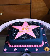 50th birthday star theme hollywood star cake for a hollywood