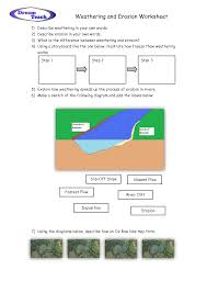 weathering and erosion worksheet pinterest worksheets