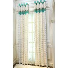 colorful polka dots embroidery chenille thermal cute kids curtains