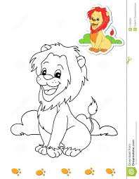 coloring book of animals 4 lion stock photo image 14450500