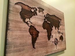 world map reclaimed barn door wood string art wall decor 39 x 29