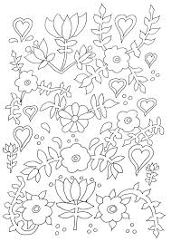 86 flowers coloring pages images coloring