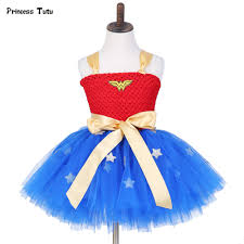 wonder woman halloween costume aliexpress com buy summer kids tutu dress wonder woman