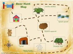language activities for the book we u0027re going on a bear hunt
