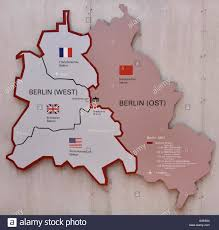 Cold War Germany Map by Berlin Germany German City Town Checkpoint Charlie Checkpoint C