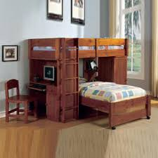 Wood Loft Bed With Desk - Twin bunk beds with desk