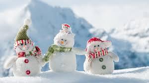 wallpaper 1920x1080 snowmen three smile snow winter