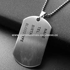 stainless steel necklace pendant images China personalized engraving stainless steel necklace pendant dog jpg