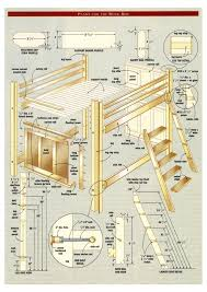 Wooden Bunk Bed Designs by Plans To Build A Loft Bed Build A Loft Bed With Free Plans See