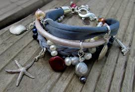 jewelry leather necklace images Multi strand leather necklace and bracelet jpg
